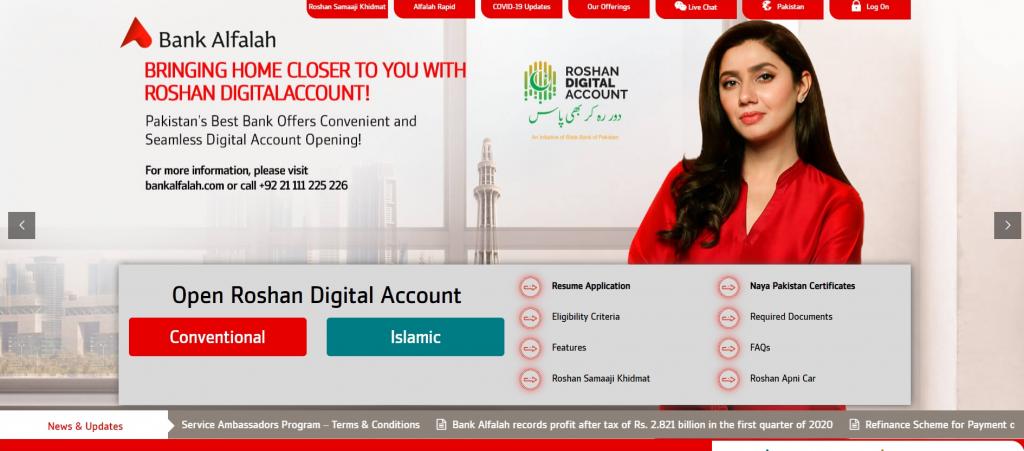 Bank Alfalah account for freelancers